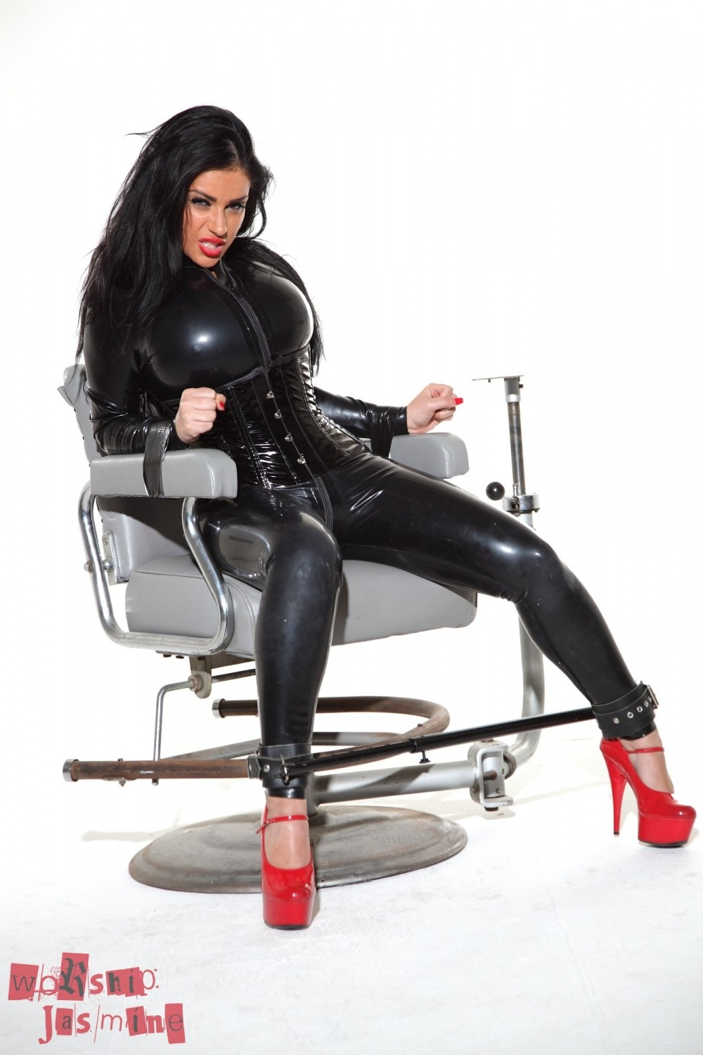 sex date latex catsuit tease