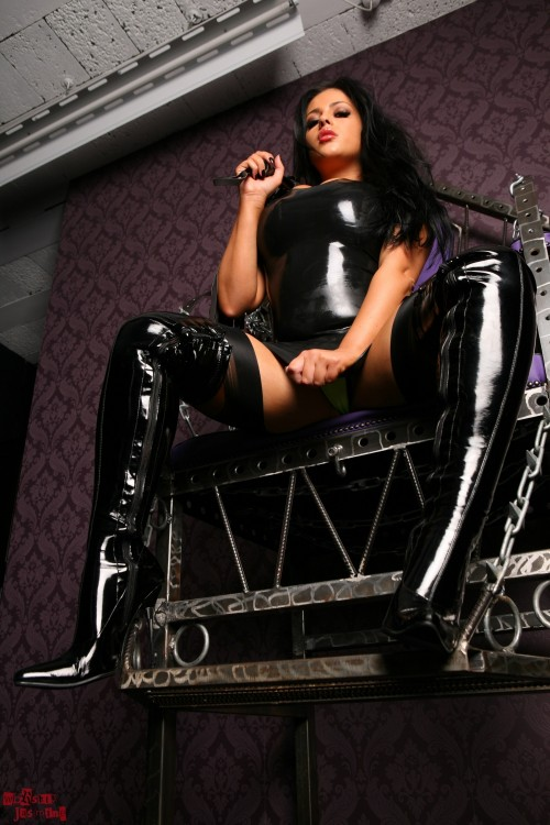 On Throne with slave