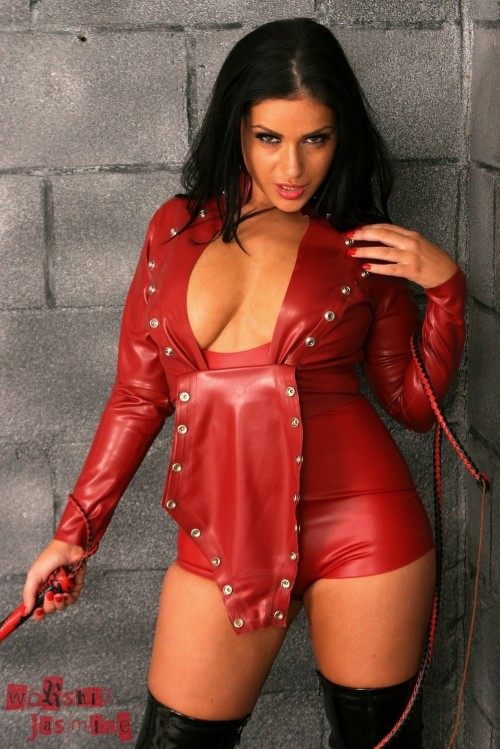 Jasmine Jones Red Latex Small Penis Humiliation - Picture 3