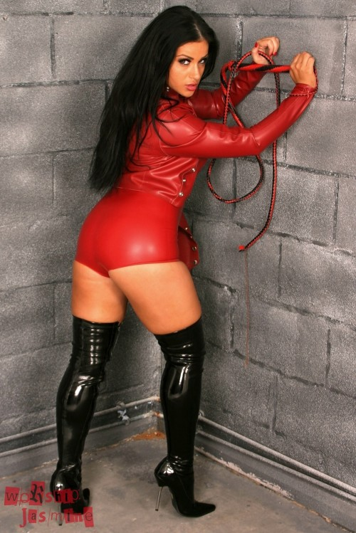 Jasmine Jones Red Latex Small Penis Humiliation - Picture 4