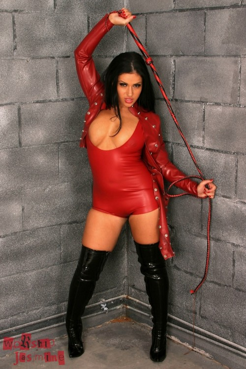 Jasmine Jones Red Latex Small Penis Humiliation - Picture 6